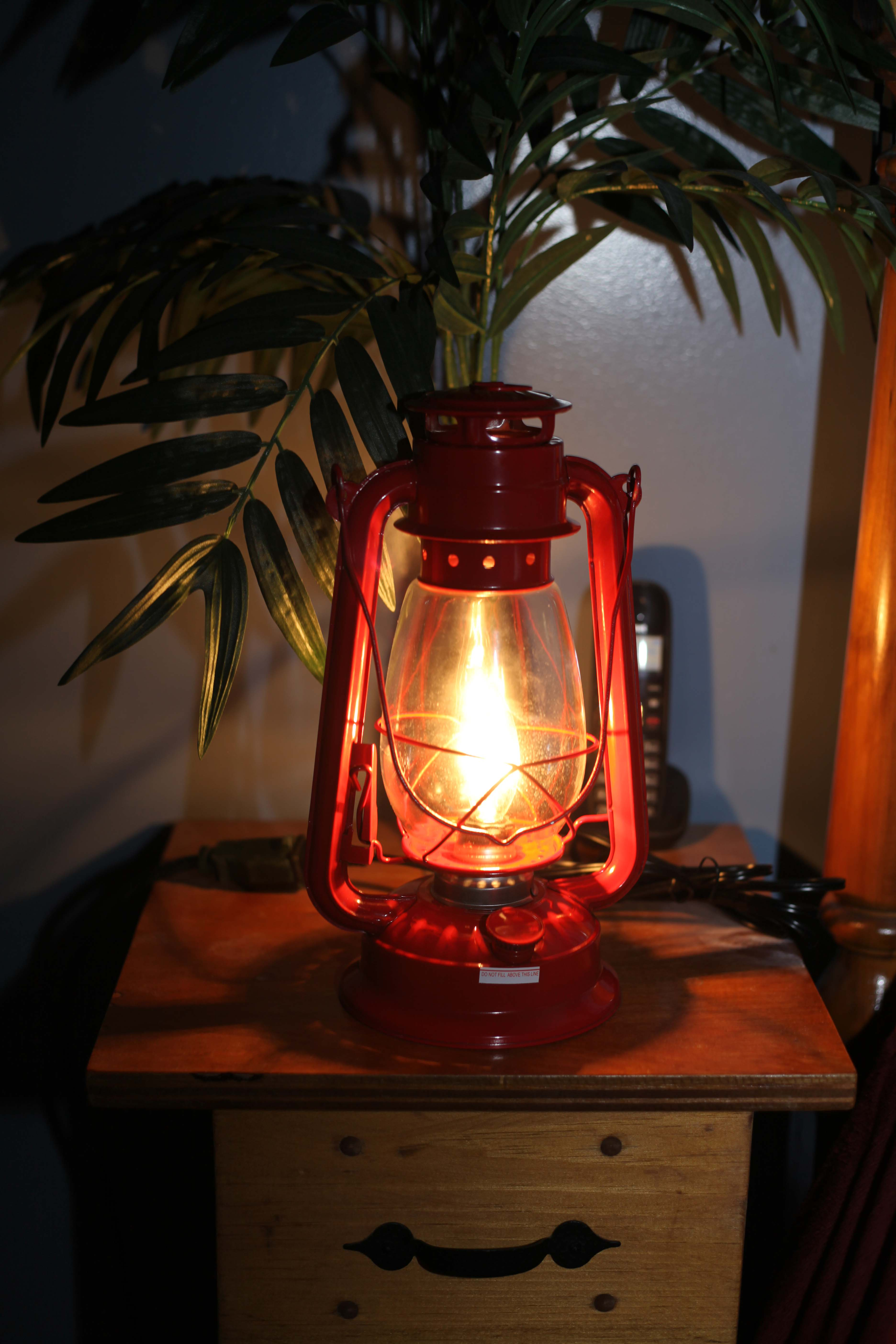 Electric Lantern Table Lamp Red Electric Hurricane